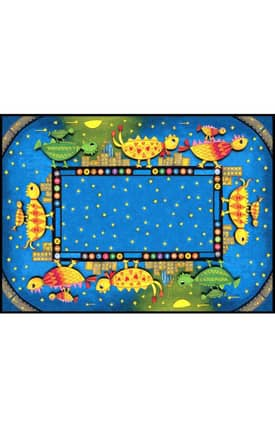 Istanbul New York City Collection Dino Chicks 3 Rug