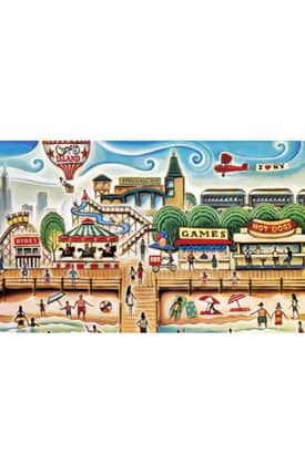 Istanbul New York City Collection Coney Island 1 Rug