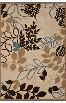 Concord Global Milano Floating Leaves Rug