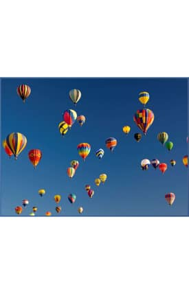Concord Global National Geographic Photographic Hot Air Balloons Rug