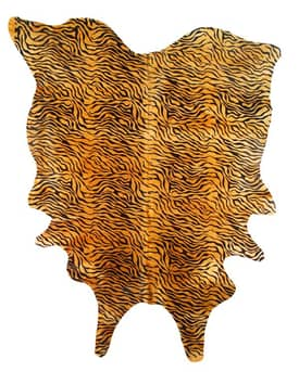 BS Trading Cowhide Rugs Baby Tiger Rug