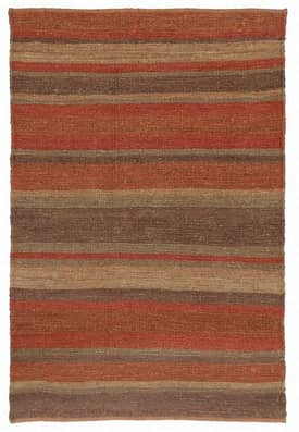 Classic Home Striped Soumak Jute Canyon Rug