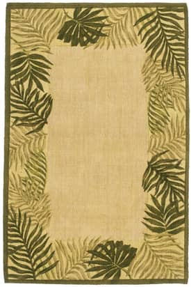 Classic Home Cabin Palm Frame Rug