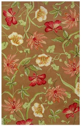 Classic Home Outdoor Hooked Outdoor Florabunda Rug