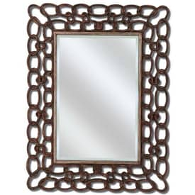 Paragon Contemporary Mottled Copper Links Wall Mirror