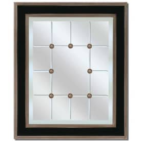 Paragon Contemporary Black & Silver Tuxedo Wall Mirror