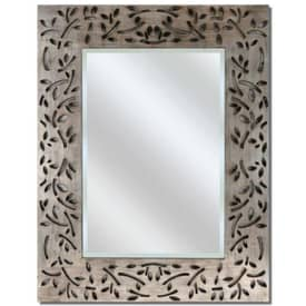 Paragon Contemporary Silver Industrial Leaf Wall Mirror