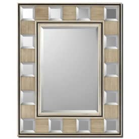 Paragon Contemporary Silver Block Contemporary Wall Mirror