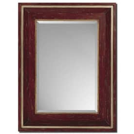 Paragon Contemporary Distressed Red & Gold Wall Mirror