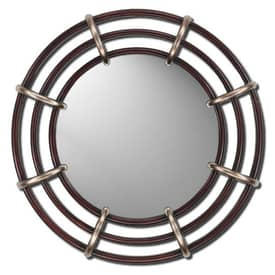 Paragon Contemporary Silver & Wood Finish Modern Wall Mirror