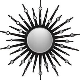 Paragon Sunburst Espresso Sunburst Wall Mirror