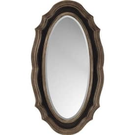 Paragon Traditional Drak Brown and Gold Oval Mirror