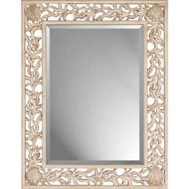 Paragon Casual Whitewashed Coral Wall Mirror