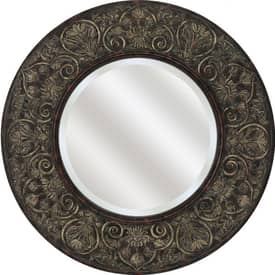 Paragon Traditional Round Floral Creation Mirror