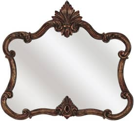 Paragon Ornate Aged Copper Pediment Mirror