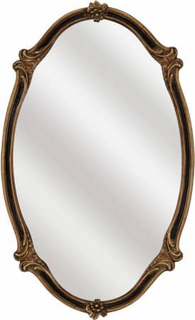 Paragon Renaissance Black Gold Oval Mirror