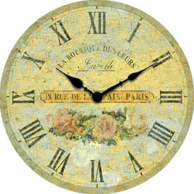 Infinity Instruments Country Boutique Roses Wall Clock