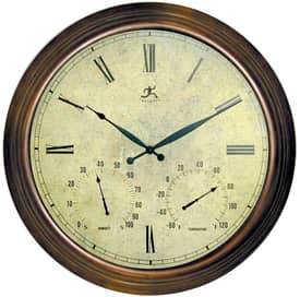Infinity Instruments Indoor & Outdoor Indoor & Outdoor Metal Open Dial Clock