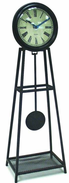 Infinity Instruments Wrought Iron Wrought Iron Pendulum Table Clock