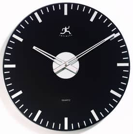 Infinity Instruments Contemporary Mirrored Glass Wall Clock