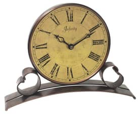 Infinity Instruments Alarm Clocks Metal Trimmed Table Clock