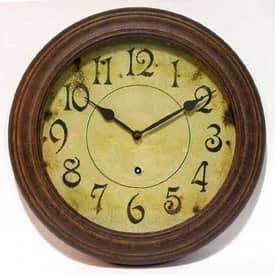 Infinity Instruments Traditional Metal Wall Clock