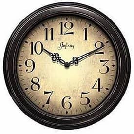 Infinity Instruments Antiqued The Precedent Wall Clock with Antique Finish