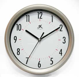 Infinity Instruments Wrought Iron Facile-White Wall Clock