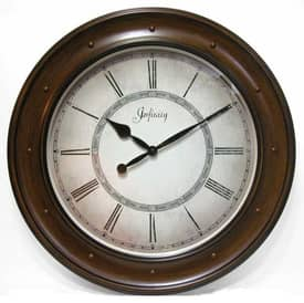 Infinity Instruments Traditional The Aukland Wall Clock with Walnut Finish