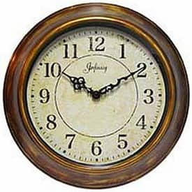 Infinity Instruments Antiqued The Keeler Wall Clock with Antique Finish