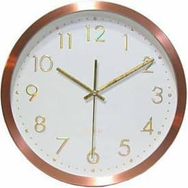 Infinity Instruments Contemporary Penny For Your Time Wall Clock with Copper Finish