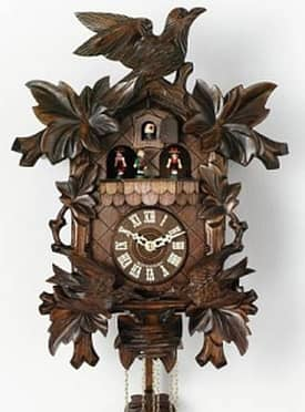 River City Cuckoo Clocks 8 Day Musical Collector Series Cuckoo Clocks Moving Birds Feed Nest Cuckoo Clock