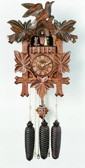 River City Cuckoo Clocks 8 Day Musical Collector Series Cuckoo Clocks Five Leaves, One Bird