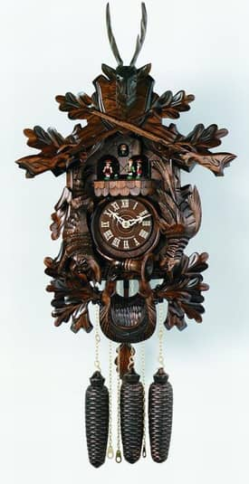 River City Cuckoo Clocks 8 Day Musical Collector Series Cuckoo Clocks Hunter's Clock & Dead Animals Cuckoo Clock