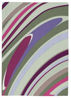 Rugs USA Serendipity Contemporary Hand Knotted Wool Swirls Rug