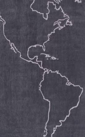 Rugs USA Keno Map of the Americas Rug