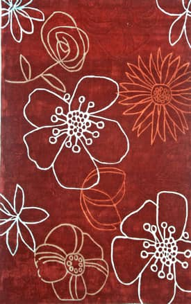 Rugs USA Keno Contemporary Handmade Lillies Rug