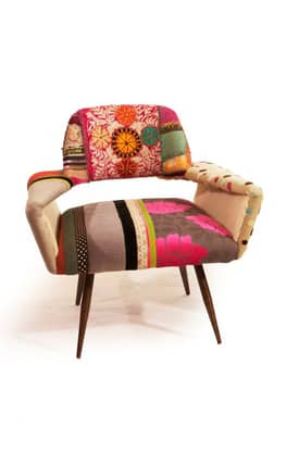 Rugs USA Boho Chic Couture 1 Patchwork Arm Chair Furniture