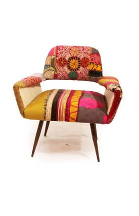 Rugs USA Boho Chic Couture 2 Patchwork Arm Chair Furniture