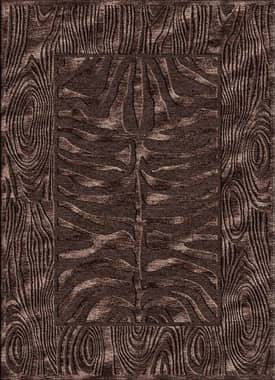Rugs USA Serendipity Zebra Bark Border Rug