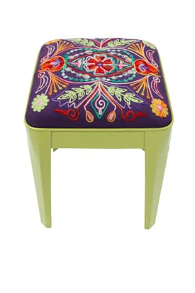 Rugs USA Boho Chic Maryam Contemporary Ottoman Stool Furniture