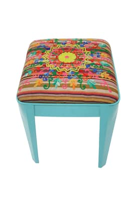 Rugs USA Boho Chic Maya Contemporary Ottoman Stool Furniture
