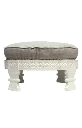 Rugs USA Ottomans White Chakki Furniture