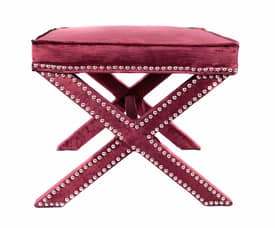 Rugs USA Ottomans Crushed Velvet X-Bench Furniture