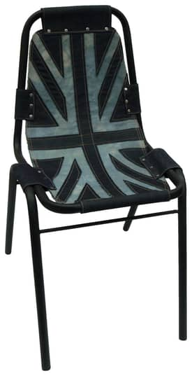 Rugs USA Nottinghill Union Jack Denim Accent Chair Furniture