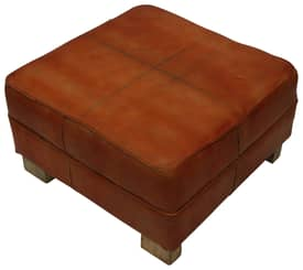 Rugs USA Nottinghill Moroccan Square Leather Ottoman Furniture