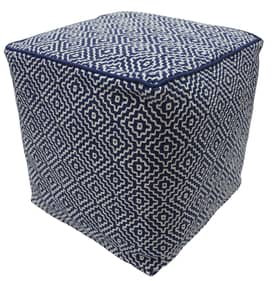 Rugs USA Poufs Diamond Cube Square Pouf Furniture