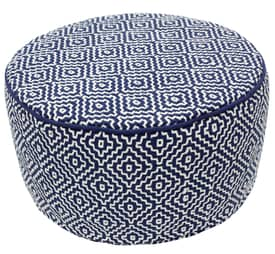 Rugs USA Poufs Diamond Cube Round Cushion Furniture
