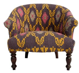 Rugs USA Ethno Tribal Kilim Roundback Arm Chair Furniture