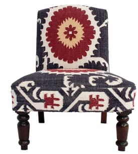 Rugs USA Ethno Suzani Kilim Accent Chair Furniture